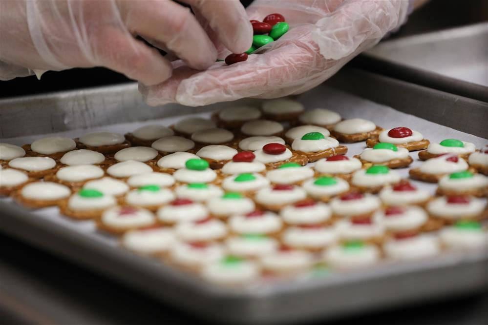 Photo of the cookies made by midlakes food service workers
