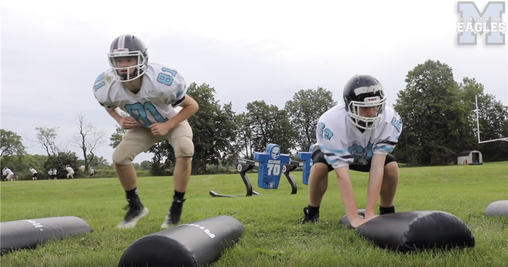 photo of midlakes football pratice