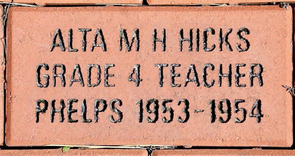 photo of brick outside Midlakes One-room schoolhouse