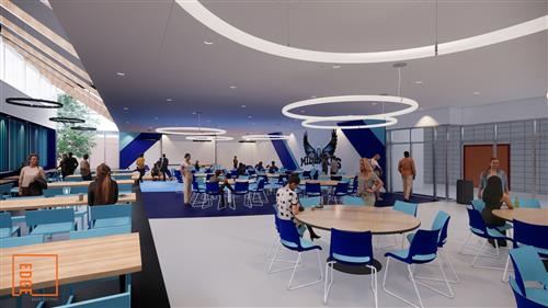 rendering of cafeteria