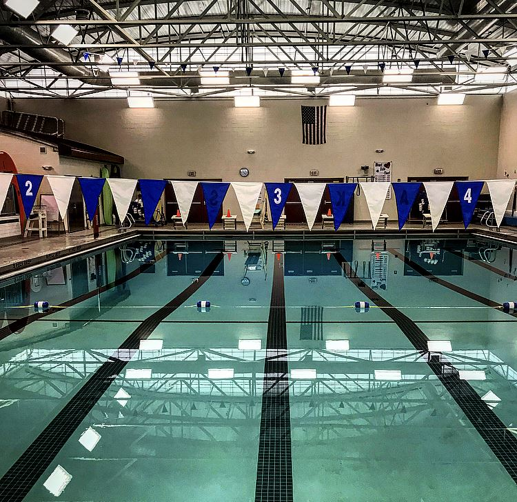 The Midlakes Aquatics Center is home to the Screaming Eagles swim and dive teams.